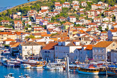 Town of Trogir seafront view Stock Images