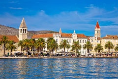 Town of Trogir yachting waterfront Stock Photo