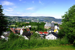 The town of Trondheim Royalty Free Stock Image