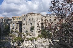 Town of Tropea in sough of Italy. Royalty Free Stock Images