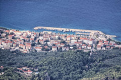 Town on Tucepi from the top Stock Image