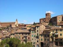 town tuscany Royaltyfri Bild