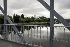 Town Tyn nad Vltavou, view from bridge. stock image