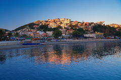 Town Ulcinj in the evening, Montenegro Royalty Free Stock Photo