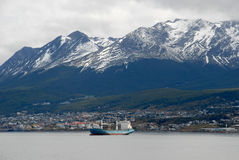 Town Ushuaia,  Argentina, South America. Royalty Free Stock Photo