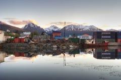 Town of Ushuaia in Tierra Del Fuego Stock Image