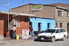 The town of Uyuni Royalty Free Stock Image