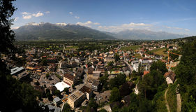 Town Vaduz - principality Royalty Free Stock Photos