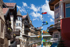 The Town of Vail is a Home Rule Municipality in Eagle County, Co stock photography