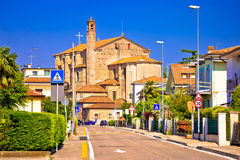 Town of Valeggio sul Mincio street view. Veneto region of Italy Stock Images