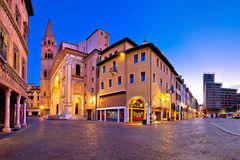 Town of Valeggio sul Mincio street view. Veneto region of Italy Royalty Free Stock Image