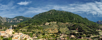 Town of valldemossa in mallorca Royalty Free Stock Images