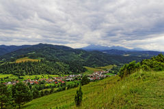 Town in the valley. In Europe Stock Images