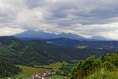 Town in the valley. In Europe Stock Photography