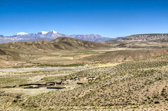 Town in the vally. Small town in the valley near Tupiza, Bolivia Stock Photography