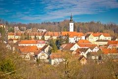 Town of Varazdinske Toplice view Stock Photos
