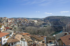 The town of Veliko Tarnovo, Bulgaria Royalty Free Stock Photo