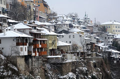 Town of Veliko Tarnovo in the Winter Royalty Free Stock Photo