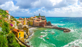 Town of Vernazza, Cinque Terre, Italy Royalty Free Stock Image