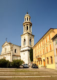 Town Verona - typical architecture. Typical buildings next to the church in Verona - Italy Royalty Free Stock Photography