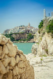 The town of Vieste, italy Royalty Free Stock Photo