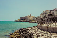 The town of Vieste, italy Royalty Free Stock Image