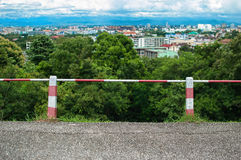 Town view. From the hill Stock Image