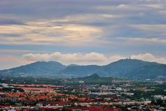 Town view. From the mountain Royalty Free Stock Photography