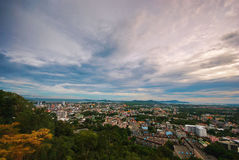 Town view. From the mountain Royalty Free Stock Images