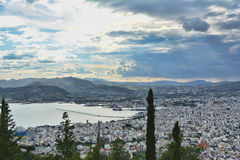Town View. Volos town view from above royalty free stock photos