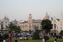 Town view of Yangon, Myanmar stock image