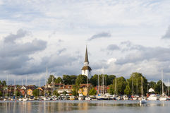 Town village Mariefred Sweden Royalty Free Stock Photos