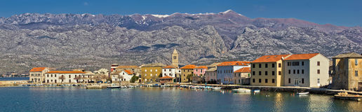 Town of Vinjerac and Paklenica National park Royalty Free Stock Photo