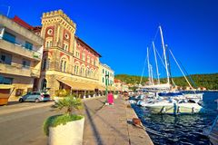 Town of Vis waterfrnt old mediterranean architecture royalty free stock image