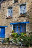Town Vitre in Brittany - France. Travel and architecture background Stock Photos
