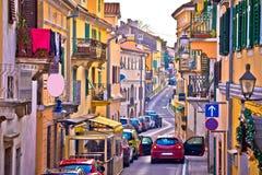 Town of Volosko street view. Opatija riviera of Croatia Royalty Free Stock Photos
