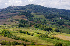 Town Voltera, Tuscany, Italy. Typical landscape in the Tuscany, Italy. Town Voltera Royalty Free Stock Image