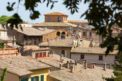 The town of Volterra Stock Images