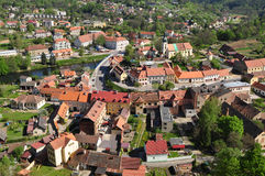 Town Vranov nad Dyji in Czech republic Royalty Free Stock Image