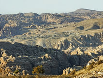 The town of Wadi Musa in the mountains, Jordan Royalty Free Stock Image