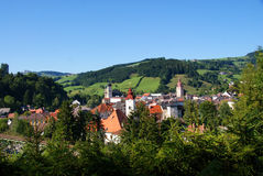 Town of waidhofen on the river Ybbs in Austria Stock Image