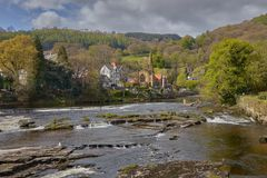 Town in Wales-Llangollen royalty free stock image