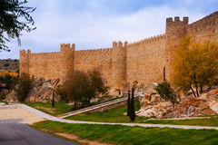 Town wall in Avila Royalty Free Stock Photos