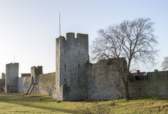 Town Wall in Visby, Sweden Stock Photography