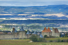 Town walls of Carcassonne, France Royalty Free Stock Image