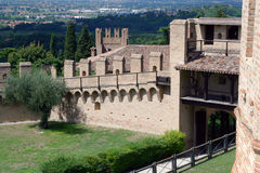 Town Walls of Gradara Stock Image