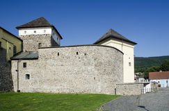 Town walls of Kremnica, Slovakia royalty free stock photography