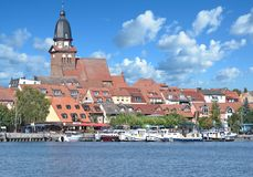 Town of WarenMueritz,Mecklenburg lake district,Germany Royalty Free Stock Images