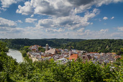 Town of Wasserburg am Inn, Bavaria, GER Stock Images