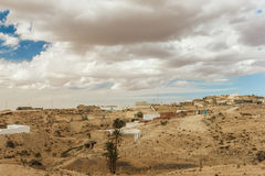 Town where the Berbers live in the Sahara desert, home of the troglodytes. Tunisia. royalty free stock images